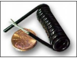 Electronic Coiled Cord 30 Gauge with 3 Conductors - Aluminum  Shielded